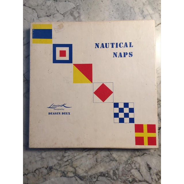 1950's Nautical Signal Flag Cocktail Napkins - Set of 12 For Sale - Image 4 of 5