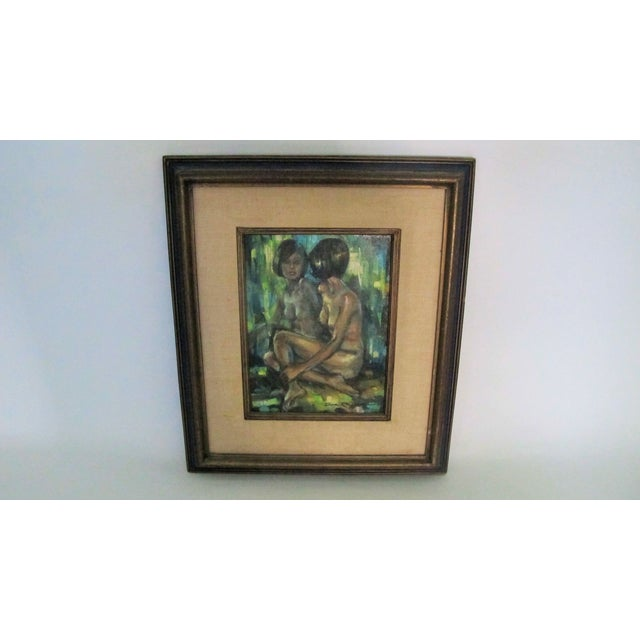 "1960s ""Reflections of a Nude"" Oil Painting - Image 2 of 4"