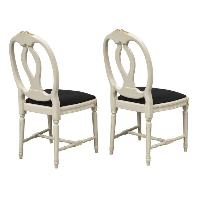 1970s Vintage Gustavian Rose Chairs - Set of 6 For Sale - Image 4 of 10