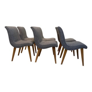 Mid-Century Modern Leslie Diamond for Conant Ball Scoop Dining Side Chairs - Set of 6 For Sale