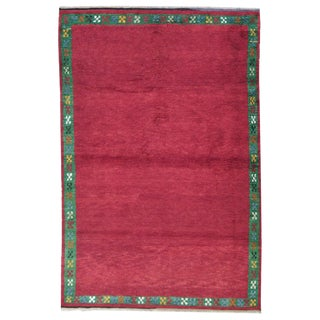 Red Tulu with Green Border For Sale