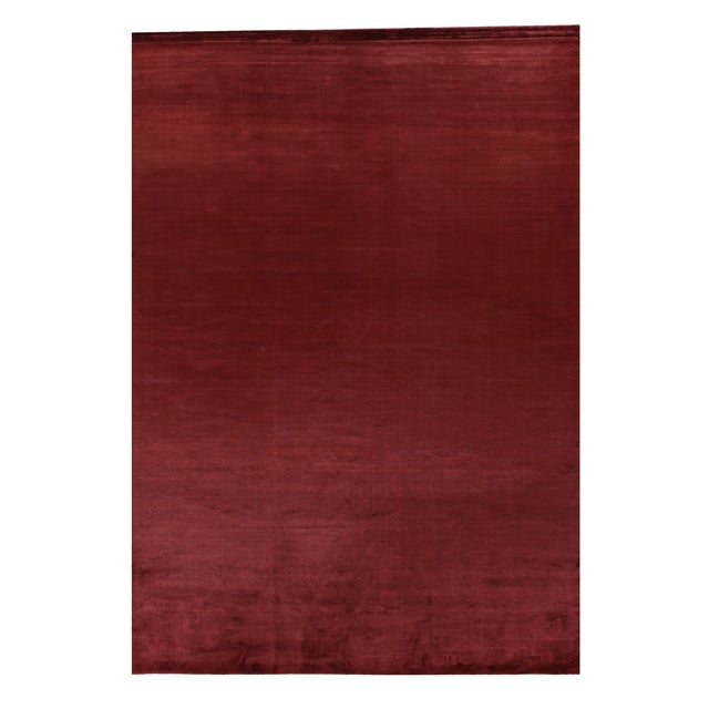 Exquisite Rugs Ives Hand loom Viscose Red/Multi Rug-15'x20' For Sale - Image 10 of 10
