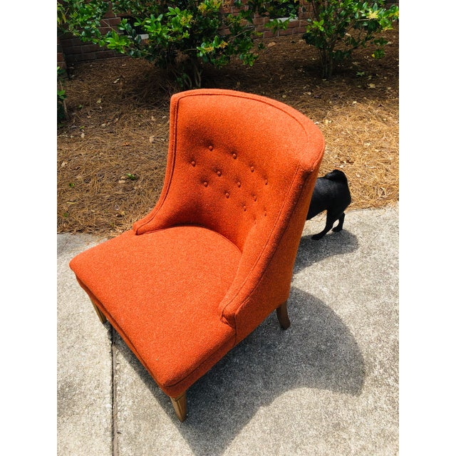 Mid-Century Modern Burnt Orange Chairs - a Pair For Sale - Image 10 of 13