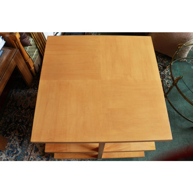 Beautifully restored Baker Furniture tiger maple geometric-feel table is a stunning piece. I love the beautiful color and...