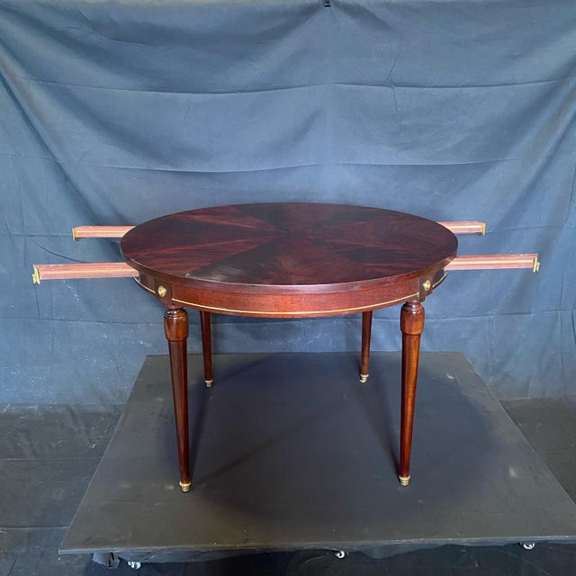 French Neoclassical Empire Style Round Side Table Dining Table For Sale - Image 4 of 10
