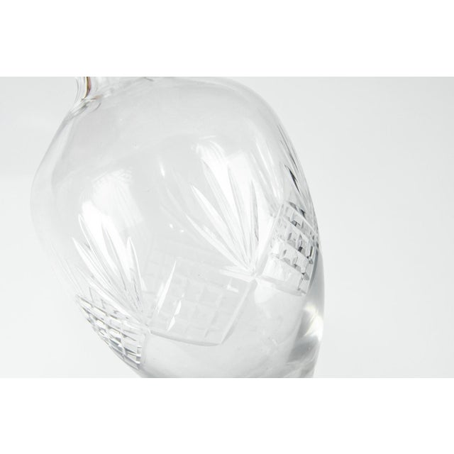 Vintage Cut Crystal Drinks Decanter - a Pair For Sale - Image 4 of 6