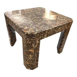 1990s Mid-Century Modern Jimeco Itda Coconut Shell Game Table For Sale