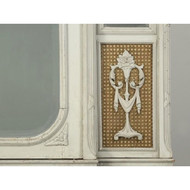 Antique French Original Painted Armoire, Circa 1900 For Sale - Image 9 of 12