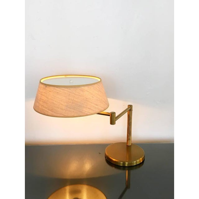 Exquisite brass swing arm desk or table lamp by walter von nessen brass swing arm desk or table lamp by walter von nessen image 4 of 7 aloadofball Images