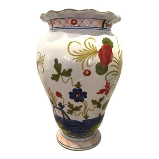 Vintage Tiffany & Co Faience Vase For Sale
