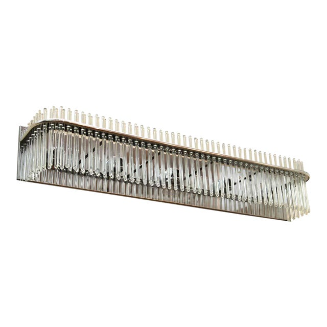 Sciolari Italian Modern Wall Sconce With Glass Rods For Sale