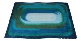 Image of Blue Contemporary Handmade Rugs