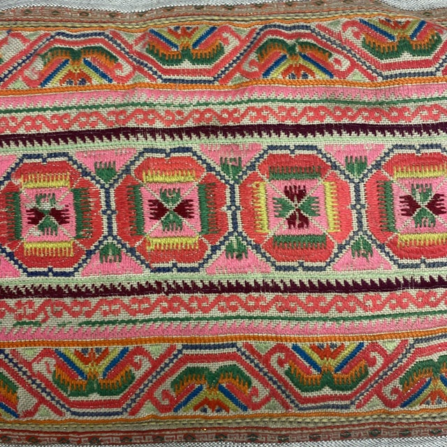 2010s Chu Hmong Embroidered Pillow For Sale - Image 5 of 7