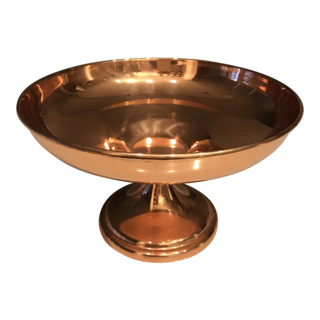 Copper Candy Dish / Compote For Sale