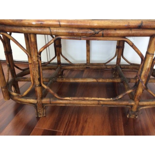 Vintage Bamboo & Rattan Gossip Bench - Image 7 of 10