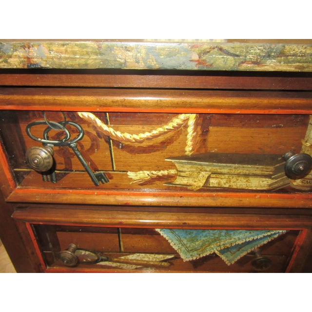 Trompe l'Oeil Mid Century 1970's Hickory Chair Collector's MIX Miniature Chest For Sale - Image 10 of 12