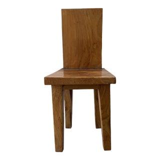 Mid-Century Modern Teak Burlwood Chair For Sale