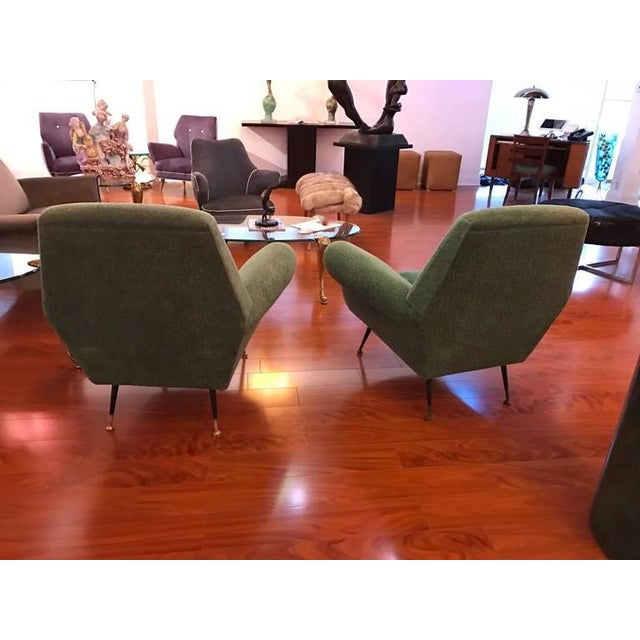 Italian Mid-Century Modern Club Chairs - A Pair For Sale In New York - Image 6 of 6