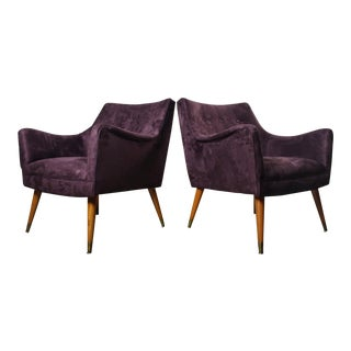 Pair of Mid Century Lounge Chairs Attributed to Paul McCobb For Sale