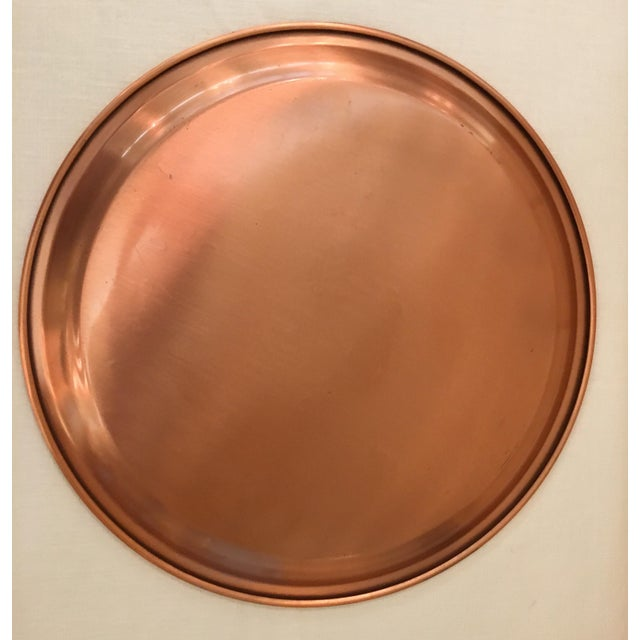 Mid-Century Modern Copper Tray For Sale In Dallas - Image 6 of 8
