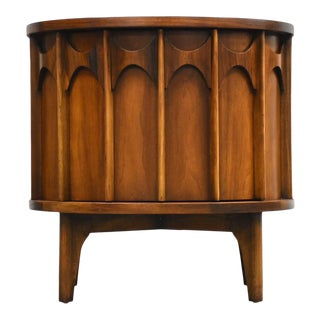 Kent Coffey Perspecta Walnut and Rosewood Nightstand For Sale