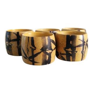Vintage Bambon Bamboo Napkin Rings - Set of 5