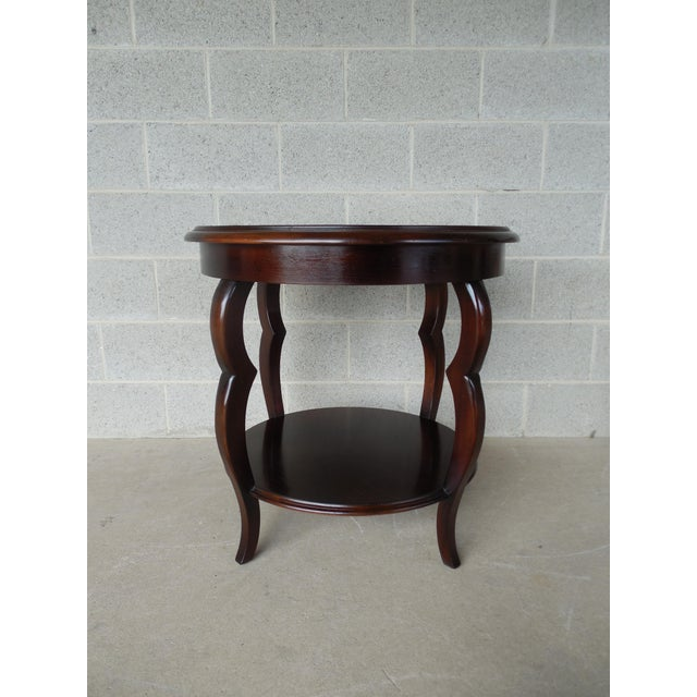 Baker Furniture Milling Road Coffee Table: Baker Milling Road Round Mahogany Accent Table