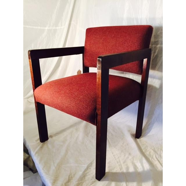 1970's Style Wood and Upholstered Chair - Image 2 of 6