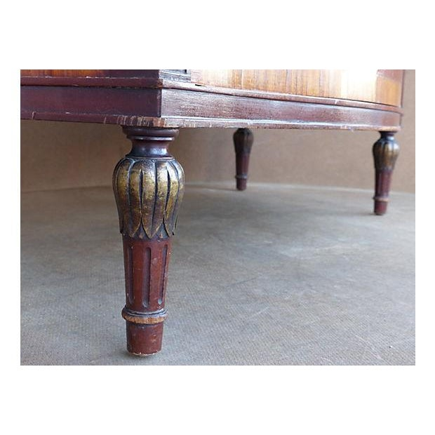 Red Marquetry & Inlay Marble Top Chest For Sale - Image 8 of 11