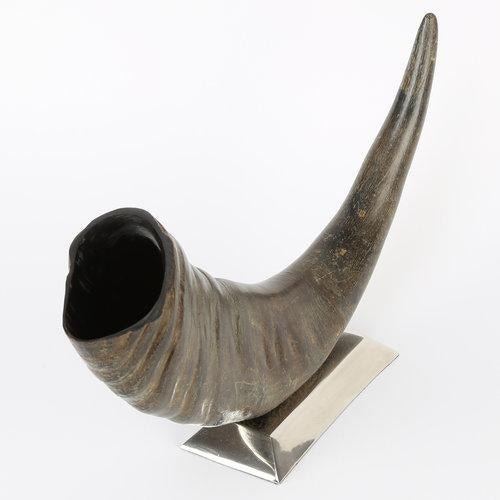 Rustic 1970's VINTAGE SCULPTURAL WATER BUFFALO HORN ACCESSORY For Sale - Image 3 of 8