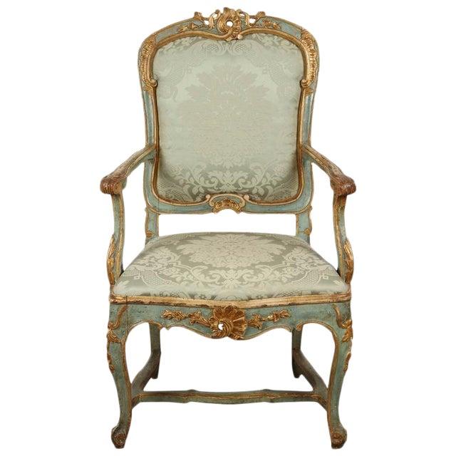 Fine Venetian Rococo Arm Chair For Sale