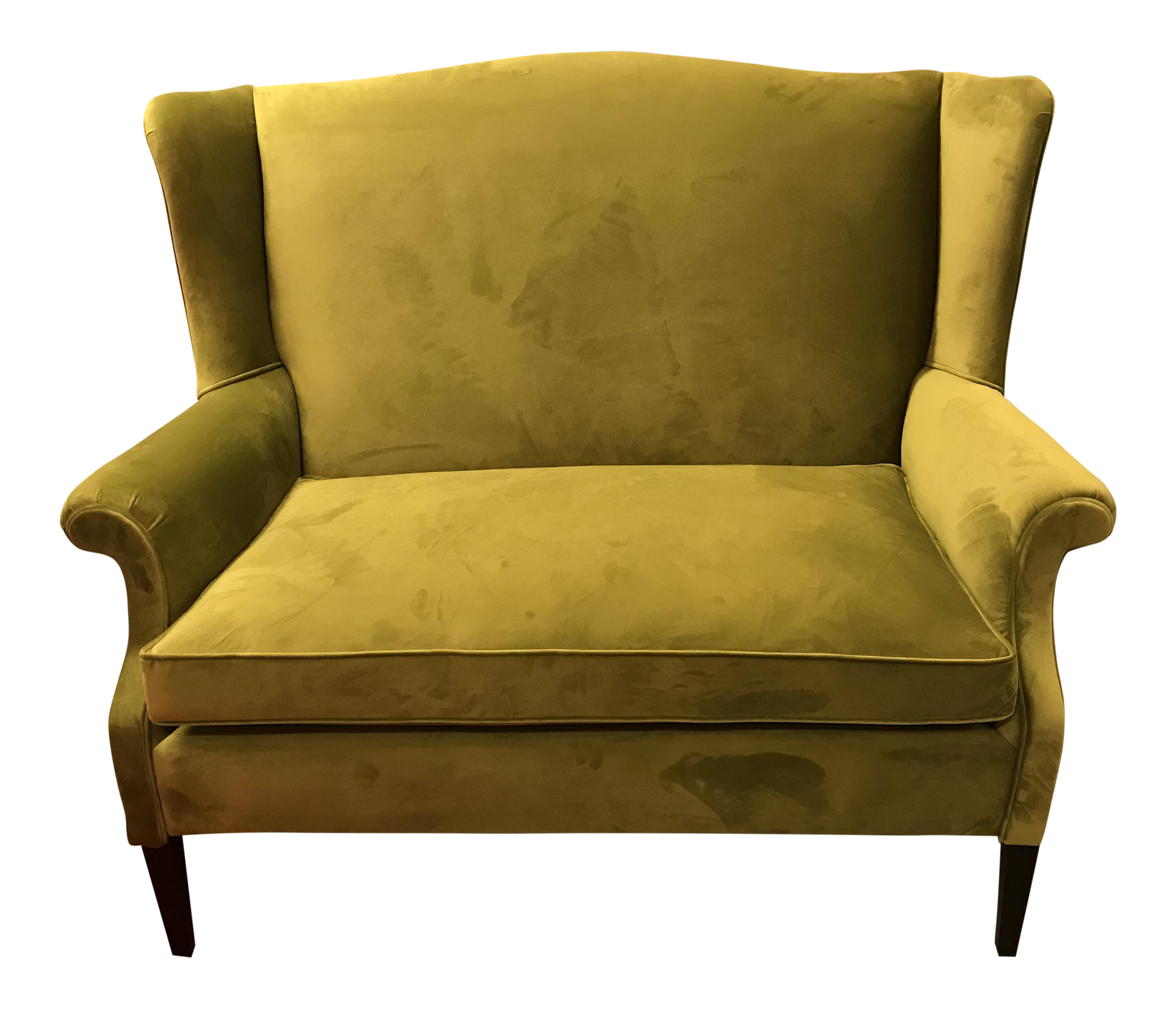 Superieur Mid Century Restored, Chartreuse Green Velvet, Wingback Sofa With A Single  Cushion