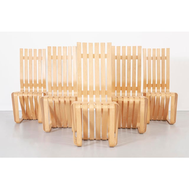 Set of Six Frank Gehry High Sticking Chairs For Sale - Image 13 of 13