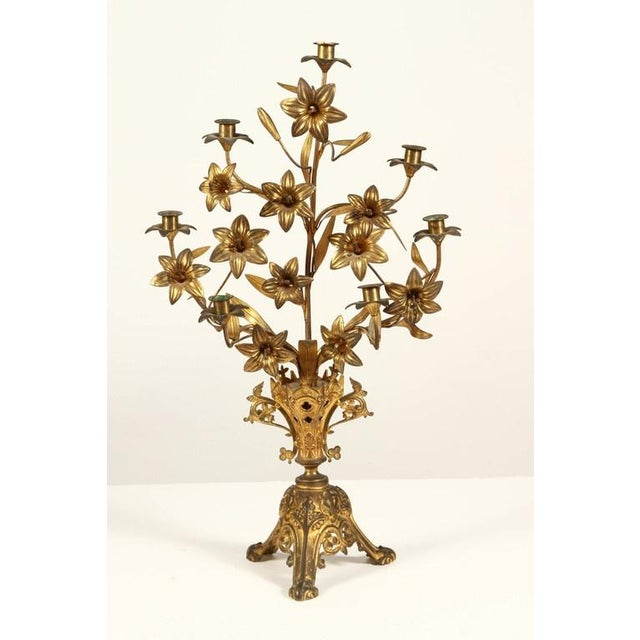 Giltwood Pair of French Candlesticks For Sale - Image 7 of 9