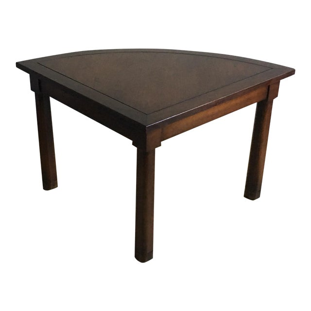 Mid Century Corner Table With Reverse Tapered Legs For Sale