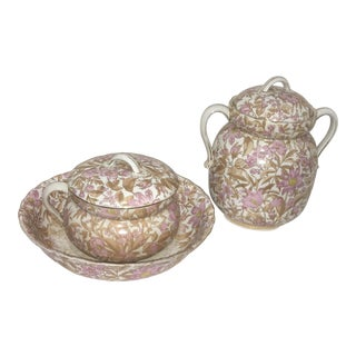 Victorian Wash Basin & Chamber Pot Set - 3 Pieces For Sale