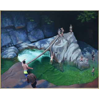 Vermont Swimming Hole Contemporary Painting by Stephen Remick For Sale