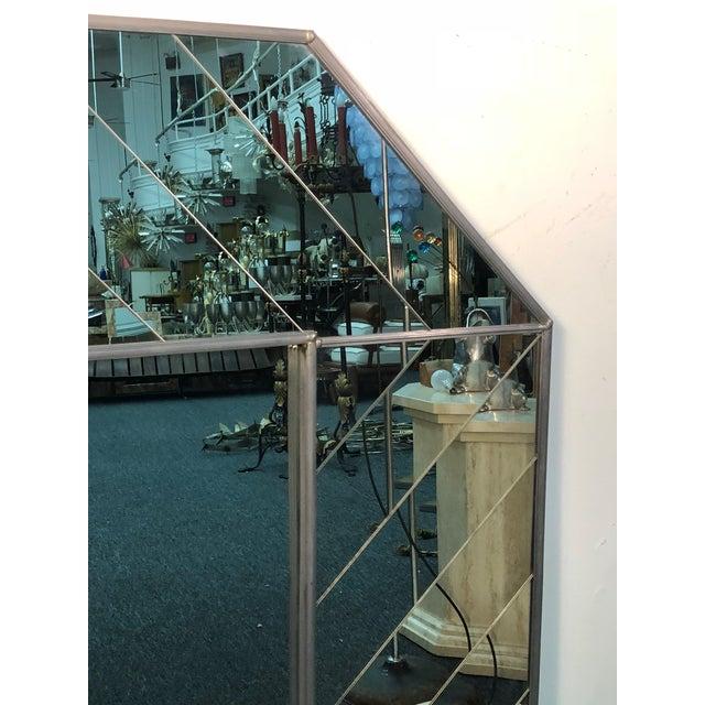Exceptional Carvers' Guild Mirror Herringbone Design For Sale In Philadelphia - Image 6 of 9