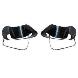 1960s Vintage Cesare Leonardi Ribbon Chairs- A Pair For Sale
