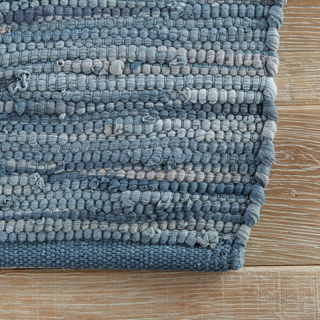 Contemporary Jaipur Living Raggedy Handmade Solid Blue Area Rug - 8' X 10' For Sale - Image 3 of 6