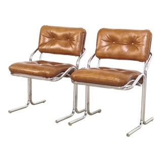 Mid Century Cal-Style Naugahyde Chairs For Sale