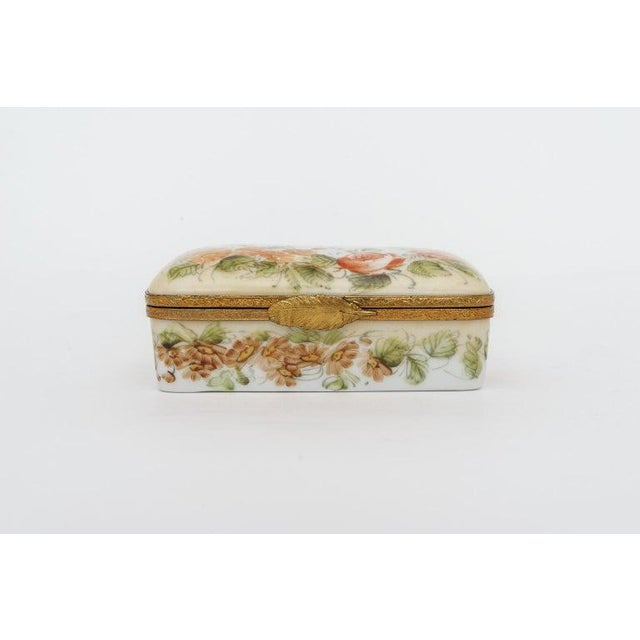 This stylish and chic five piece set of Peint Main Limoges porcelain boxes were acquired from a Palm Beach estate and they...