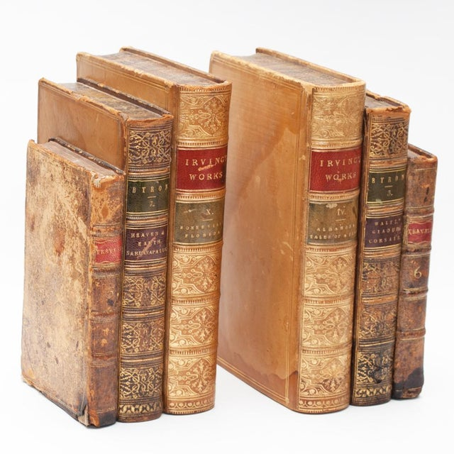 Late 18th Century 18th Century American Classical Antique Book Bookends - a Pair For Sale - Image 5 of 10