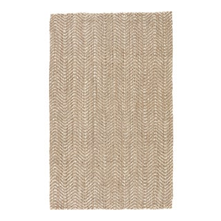 Jaipur Living Alix Natural Chevron Taupe/ White Area Rug - 9' X 12' For Sale