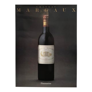 1988 French Wine Poster, Chateaux Margaux For Sale