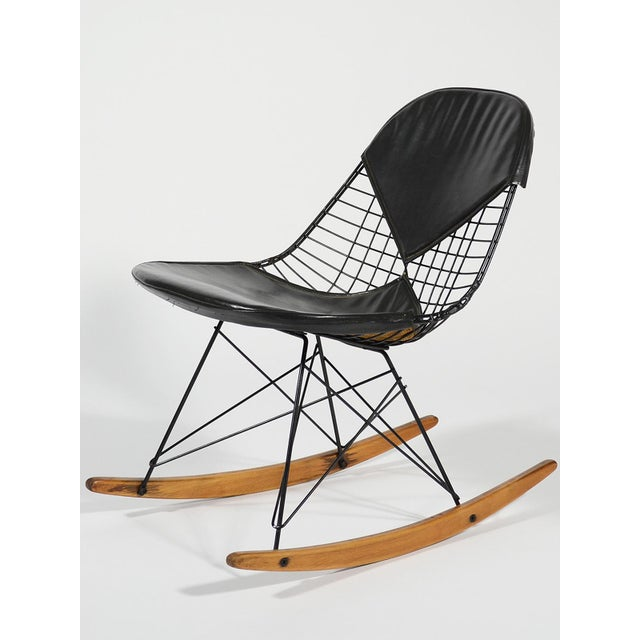 Charles and Ray Eames designed their fiberglass and wire chairs to be fitted with a wide variety of bases to offer a range...