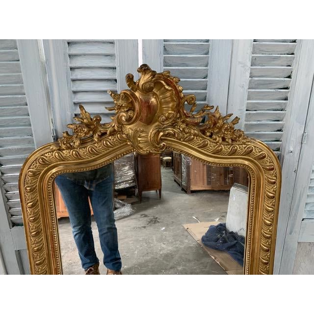 18th Century Grand Louis Philippe Mirror For Sale In Atlanta - Image 6 of 8