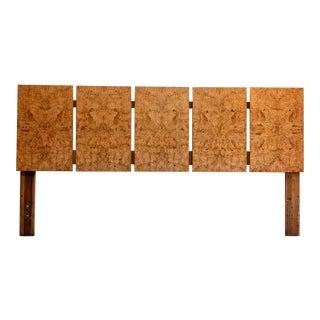 Roland Carter for Lane Furniture Burl Wood King Headboard For Sale