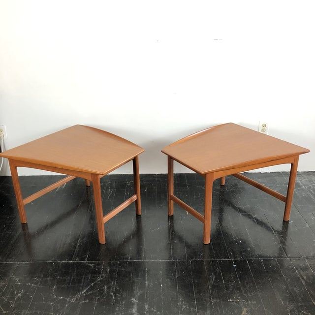 Tingströms 1960's Teak Frisco Designed by Folke Ohlsson Tables - a Pair For Sale - Image 4 of 13