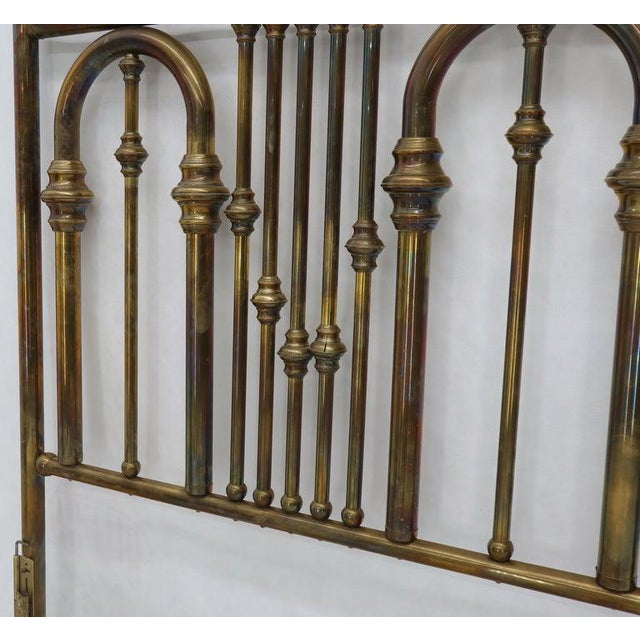 King Size Large Brass Headboard For Sale - Image 9 of 12